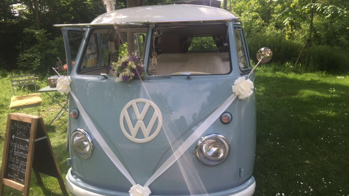 VW Classic Camper Van for Weddings